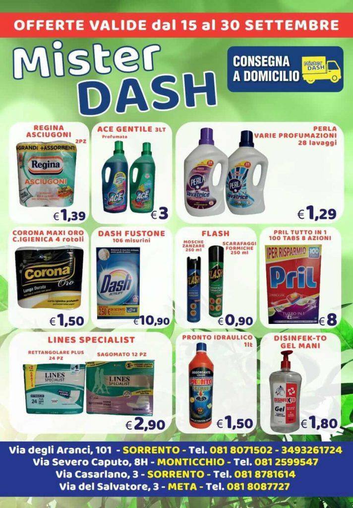 Mister Dash offerte dal 15 al 30 settembre 2021