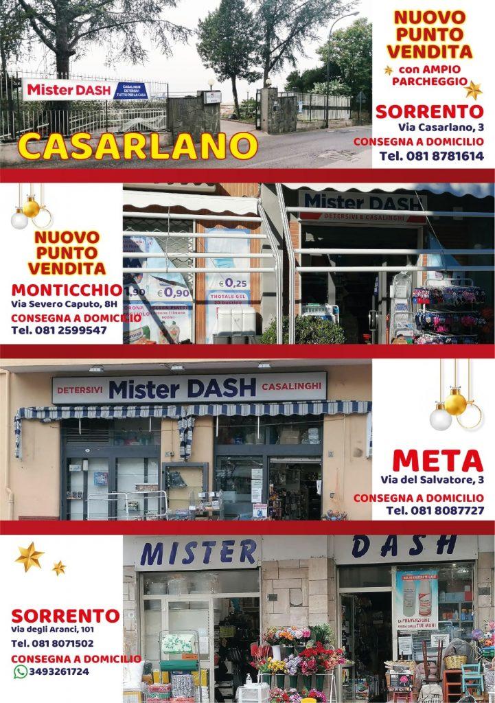 Sedi Mister Dash Sorrento Casarlano Monticchio Meta
